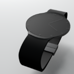 Touch Skin Watch - in stealth or idle mode